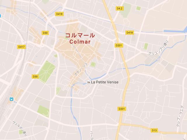 「ごちうさ」コルマール地図