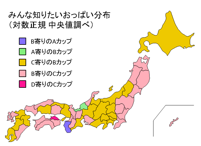 都道府県おっぱい分布